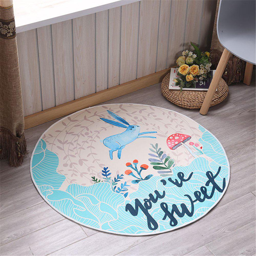 60cm Carpet Round Kids Gym Rug Play Game Mat Baby Crawling Blanket Outdoor Pad Room Decor - BLUE