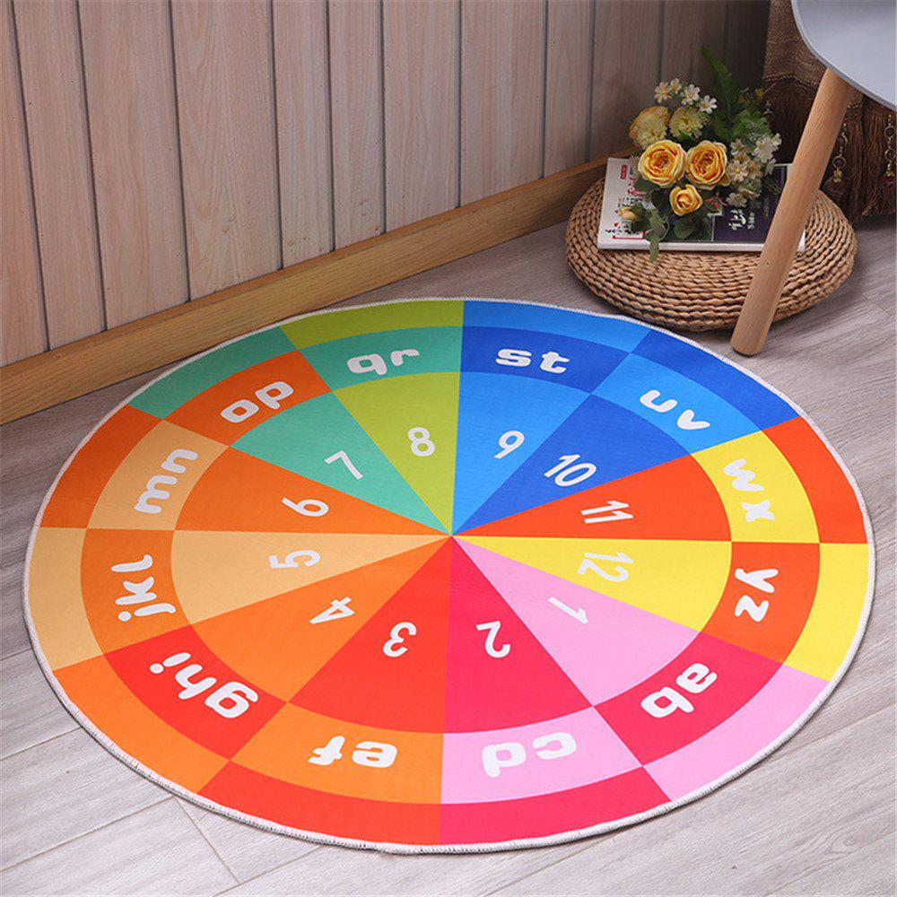 60cm Carpet Round Kids Gym Rug Play Game Mat Baby Crawling Blanket Outdoor Pad Room Decor - MIXCOLOR