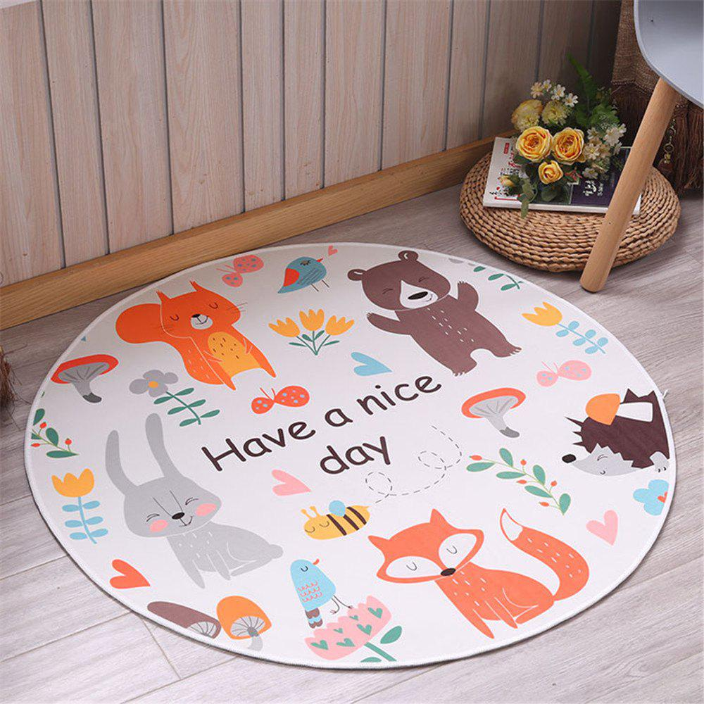 60cm Carpet Round Kids Gym Rug Play Game Mat Baby Crawling Blanket Outdoor Pad Room Decor - COLORFUL