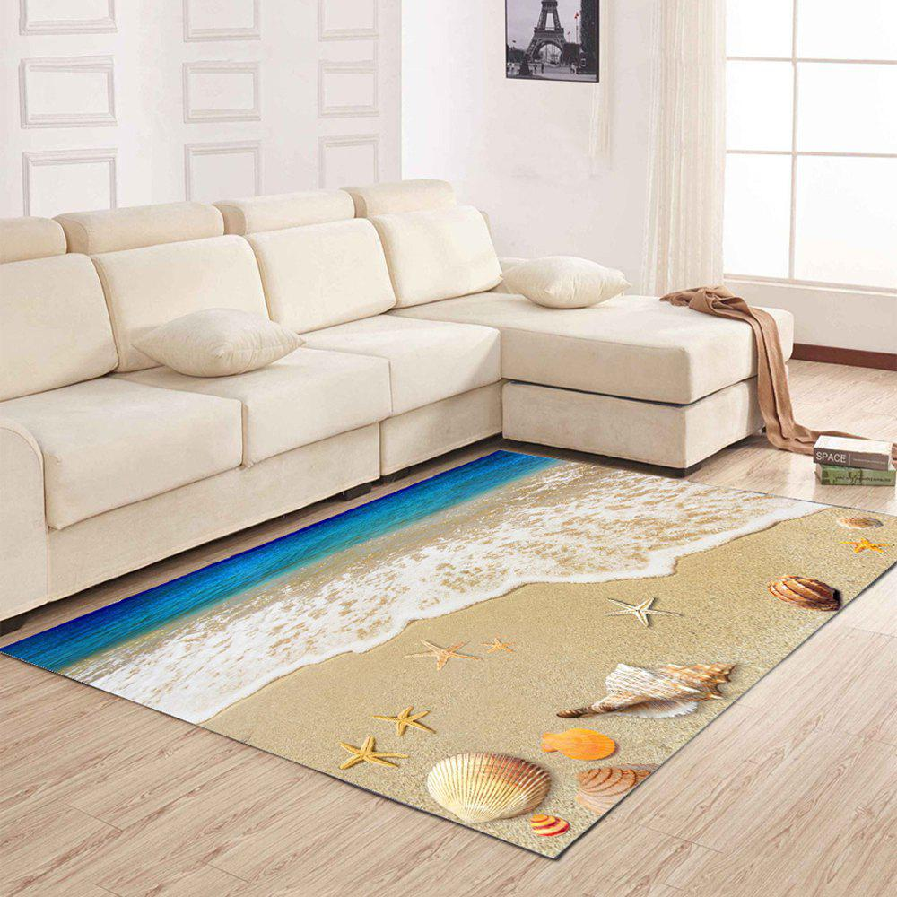 Living Room Floor Mat Delicate Vivid Sea Style Shell Pattern Antiskid Bedside Mat - COLORMIX 50X80CM
