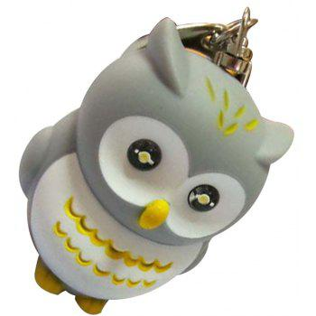 Glowing Owl Keychain Strap - GRAY WHITE CAMOUFLAGE