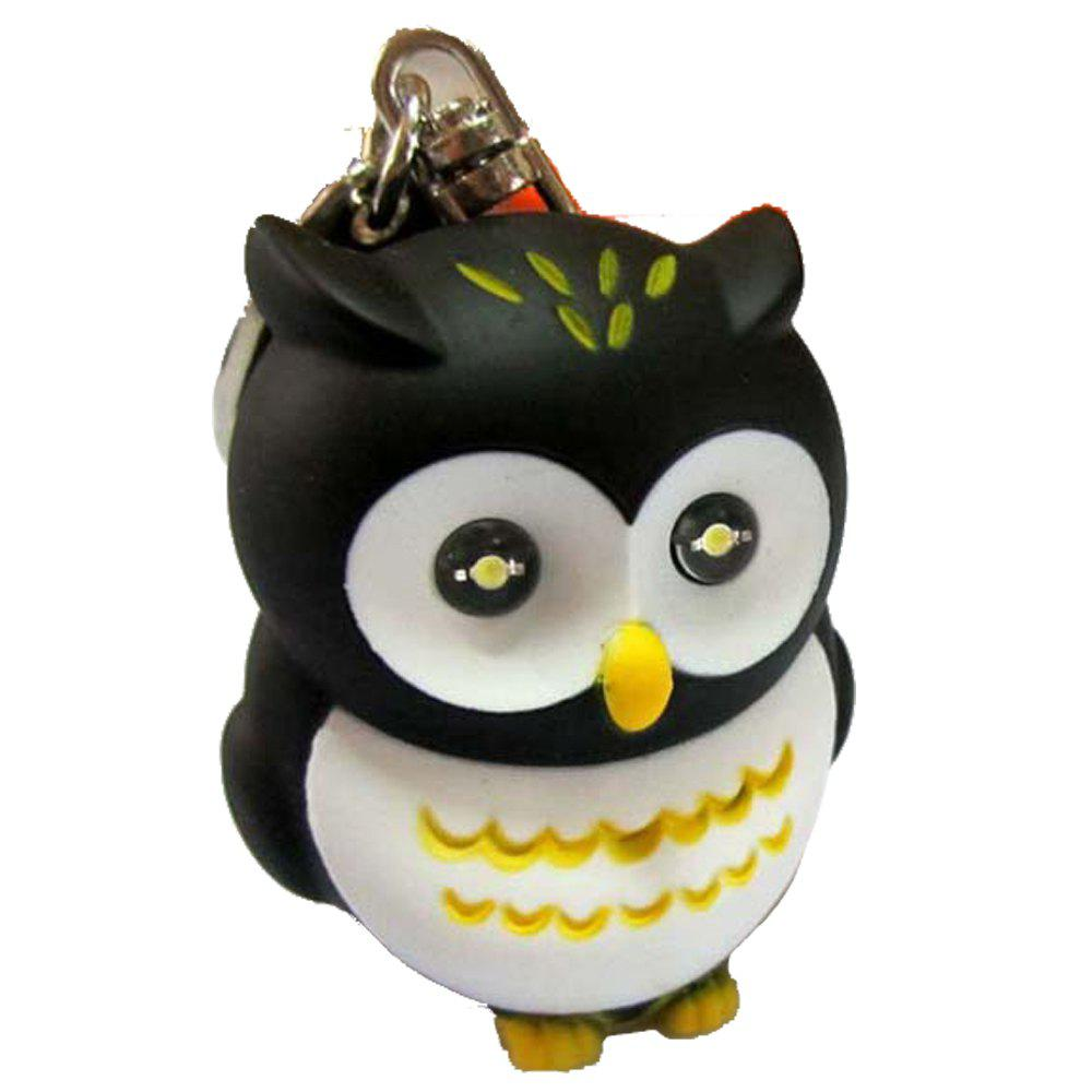 Glowing Owl Keychain Strap - BLACK WHITE
