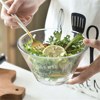 Household Large Size Glass Salad Daily Bowl - TRANSPARENT