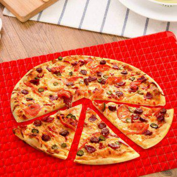 Red  Bakeware Pan Nonstick Silicone  Moulds   Cooking Mat Oven Baking Tray Sheet Kitchen   Tools - RED