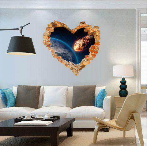 Love Heart Broken Wall Outer Space Wall Stickers Decals Art Living Room Bedroom Home Decor - BLUE