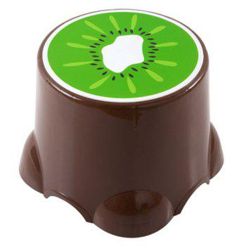 PP Child Cartoon Fruit Thickened Bench Footstool Stool - BROWNIE 27X27X21