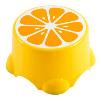 PP Child Cartoon Fruit Thickened Bench Footstool Stool - YELLOW 21.5X21.5X13