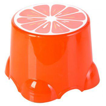 Tabouret de banc épaissi de fruit de dessin animé de fruit de pp - Orange 21.5X21.5X13
