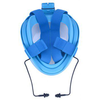 180 Degree Wide View Full Face Snorkel Mask Anti-fog Anti-leak Diving Snorkeling Mask Size L/XL - BLUE