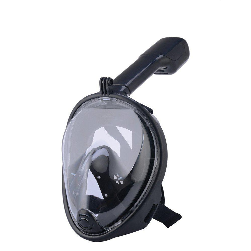 180 Degree Wide View Full Face Anti-leak Anti-fog Diving Snorkeling Mask Size S/M - BLACK
