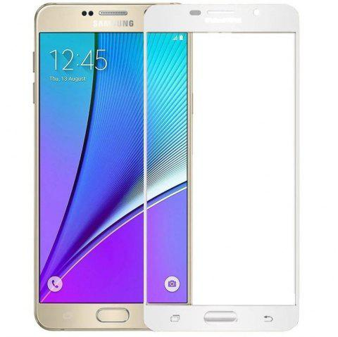 2PCS Screen Protector for Samsung Galaxy A7 2016 HD 3D Full Coverage Anti-Explosion High Sensitivit Tempered Glass - WHITE