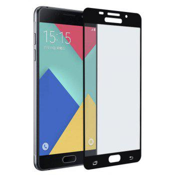 2PCS Screen Protector for Samsung Galaxy A7 2016 HD 3D Full Coverage Anti-Explosion High Sensitivit Tempered Glass - BLACK
