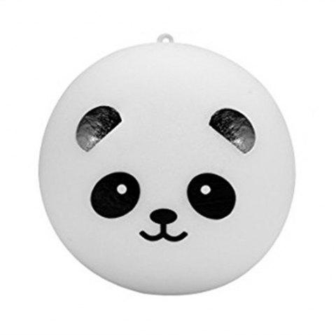 10cm Kawaii Jumbo Panda Jumbo Squishy Bun Cell Phone Bag Strap Pendant - WHITE / BLACK
