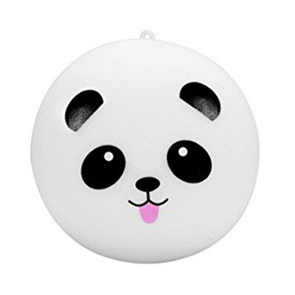 10cm Kawaii Jumbo Panda Jumbo Squishy Bun Cell Phone Bag Strap Pendant - WHITE