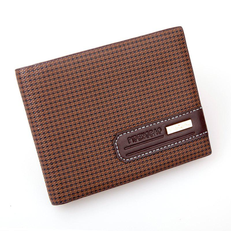 Sac à bandoulière occasionnel Business Wallet Men court British New Simple Soft - café