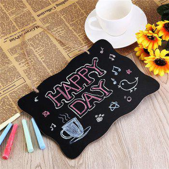 160829 Wood Small Blackboard Creative Double-Sided Blackboard DIY Message Board Home Decoration 25X35CM 2PCS - BLACK