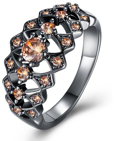 More Hollow Diamond Fashion Lady Ring - DAISY 8