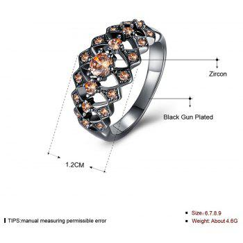 More Hollow Diamond Fashion Lady Ring - DAISY 9
