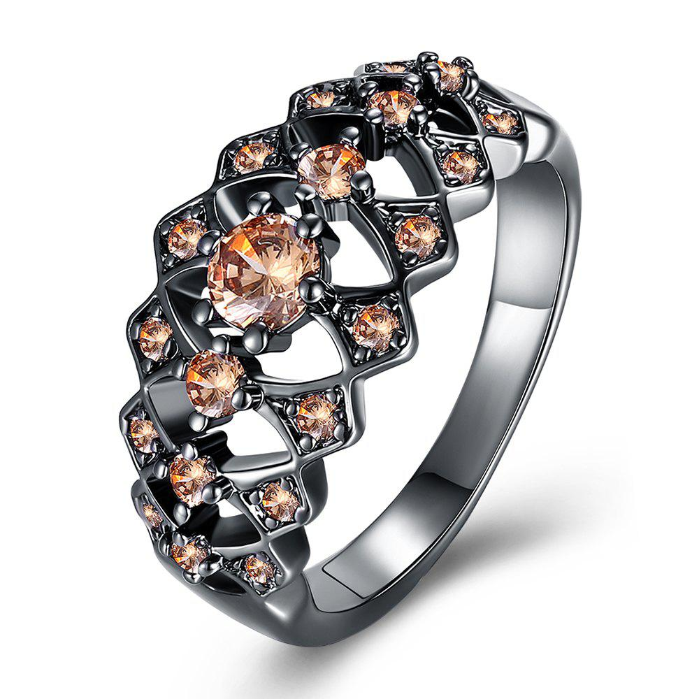 Plus diamant creux Lady Fashion Ring - Marguerite 7
