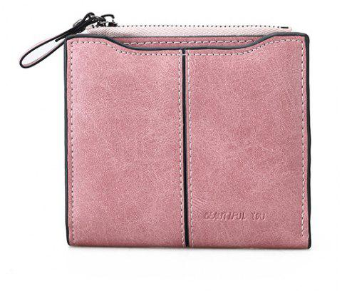 New Women Short Multi-function Wallet - PINK