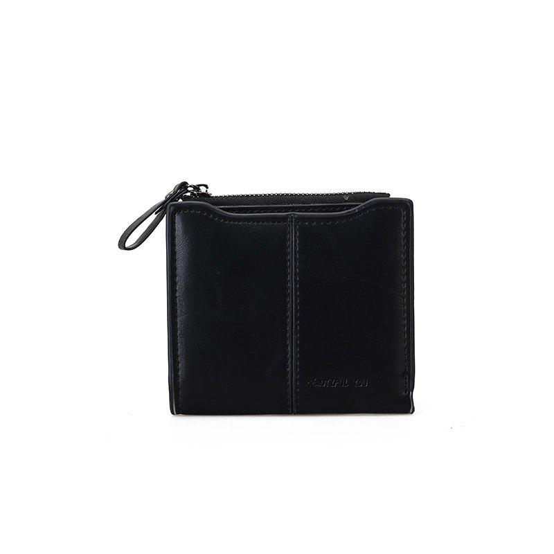 New Women Short Multi-function Wallet - BLACK