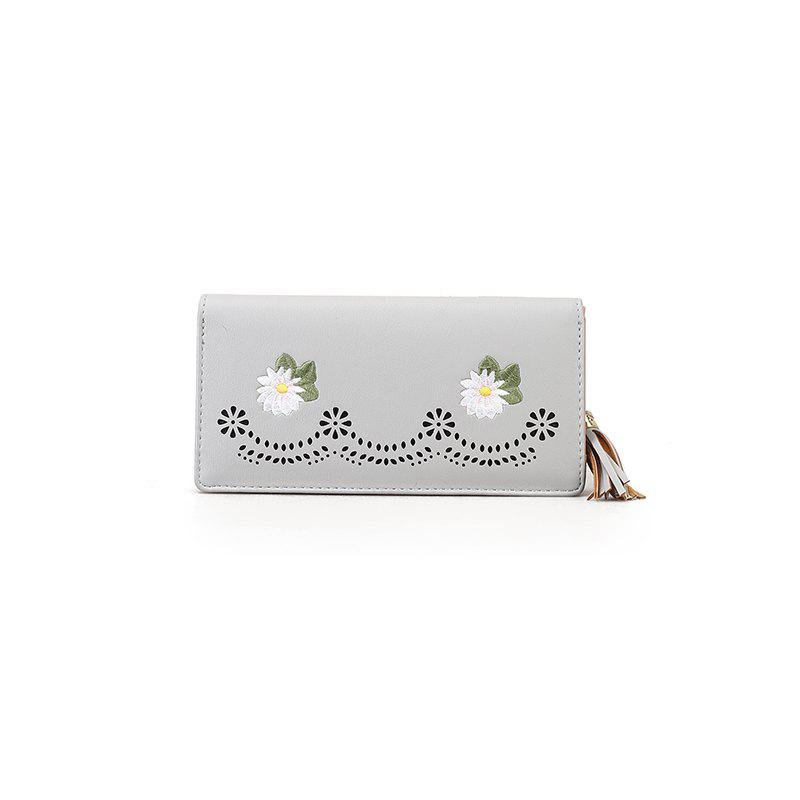 Nouvelle personnalité Zipper Small Fresh Long Purse Femme - Blanc