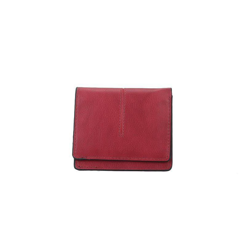 New Women's Casual Short Wallet - RED
