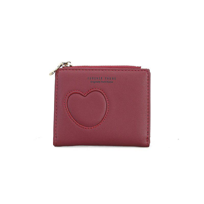 New Women's Hollow Simple Wallet - RED