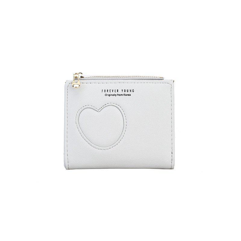 New Women's Hollow Simple Wallet - WHITE