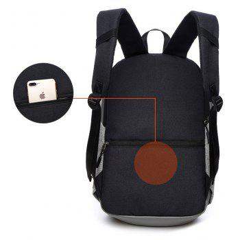 Computer Backpack Men 15.6 Inch Travel Anti-theft  Canvas Students Bag - BLACK VERTICAL