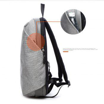 Computer Backpack Men 15.6 Inch Travel Anti-theft  Canvas Students Bag - GRAY VERTICAL