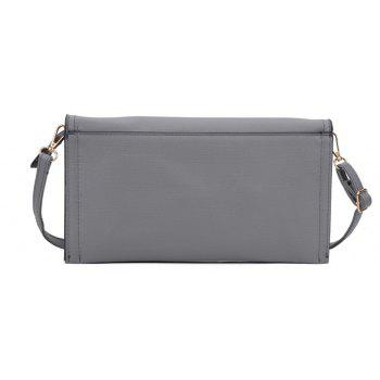 Women's Handbag Brief Style All Match Buckle Bag - GRAY