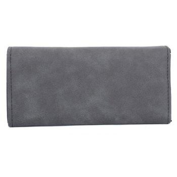 Women's Wallet Solid Color Plain Style Elegant Bag - BLACK