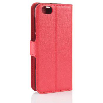 PU Leather Flip-Open Full Body Case Cover for ZTE Blade A6 Lite - RED