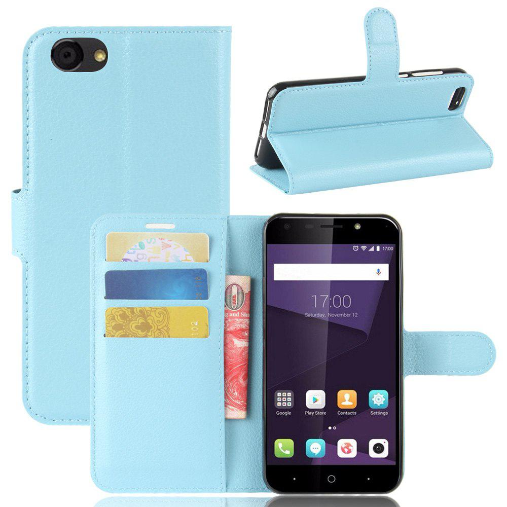 PU Leather Flip-Open Full Body Case Cover for ZTE Blade A6 Lite - BLUE