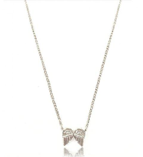 New Sweet Double Wings Pendant Clavicle Chain Women Necklace - SILVER SINGLE CODE