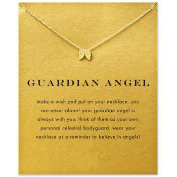 New Sweet Double Wings Pendant Clavicle Chain Women Necklace - GOLDEN SINGLE CODE