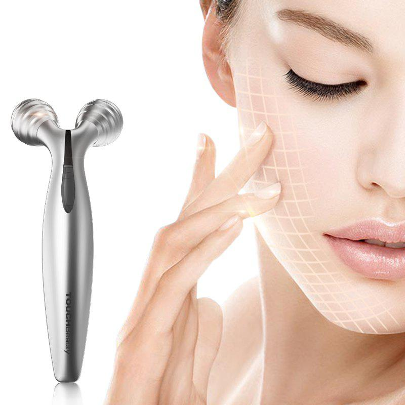 TOUCHBeauty TB-1682 Facial Roller with70 degree V-shaped Lifting Device for Lifting Body Slimming Skin - SILVER