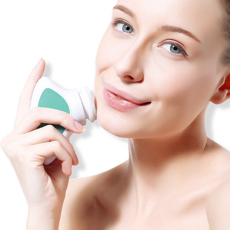 TOUCHBeauty TB-1288 Sonic Vibration Facial Cleansing Brush Portable Beauty Apparatus - GREEN