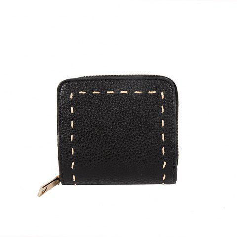 Change Package Simple Female Wallet Card Package All-match Short Fashion Tide - BLACK