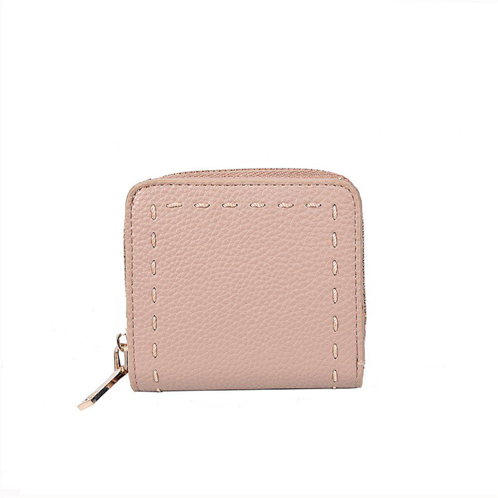 Change Package Simple Female Wallet Card Package All-match Short Fashion Tide - PINK