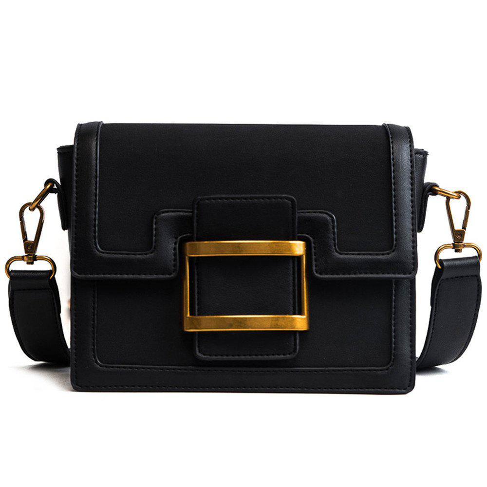 Petit paquet All-match mat coréenne de mode Crossbody simple simple sac à bandoulière - Noir