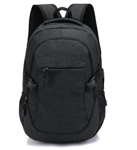 Fashion Young Men's Backpack - BLACK