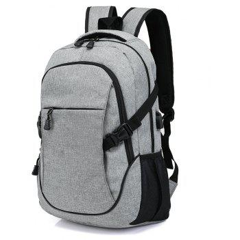 Fashion Young Men's Backpack - GRAY