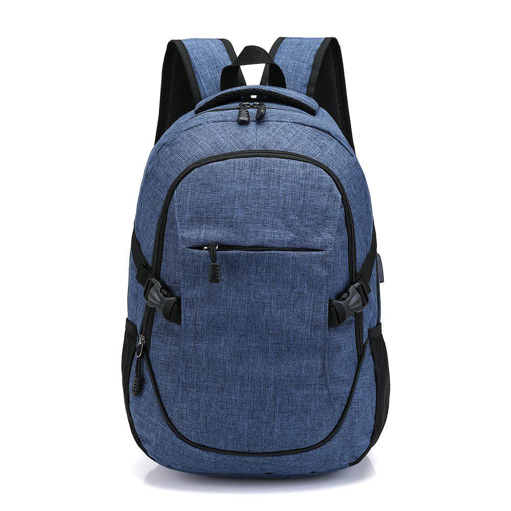 Fashion Young Men's Backpack - BLUE