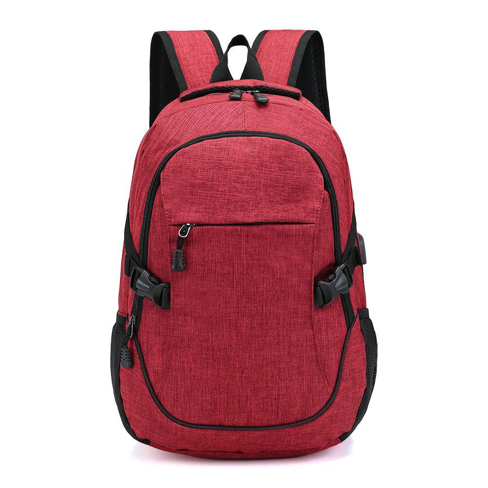 Fashion Young Men's Backpack - RED