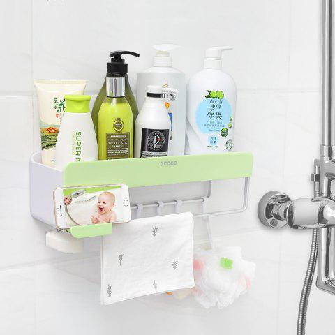 Suction Wall Bathroom Bathroom Suction Wall Rack - GREEN