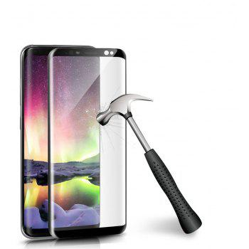 2PCS Screen Protector for Samsung Galaxy S8 Plus High Sensitivit HD Full Coverage 3D High Clear Premium Tempered Glass - BLACK