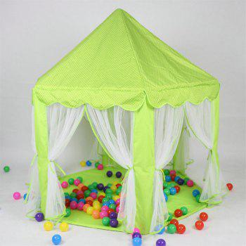 140x135cm Large Princess Castle Tulle Children House Game Selling Play Tent Yurt Creative - GREEN