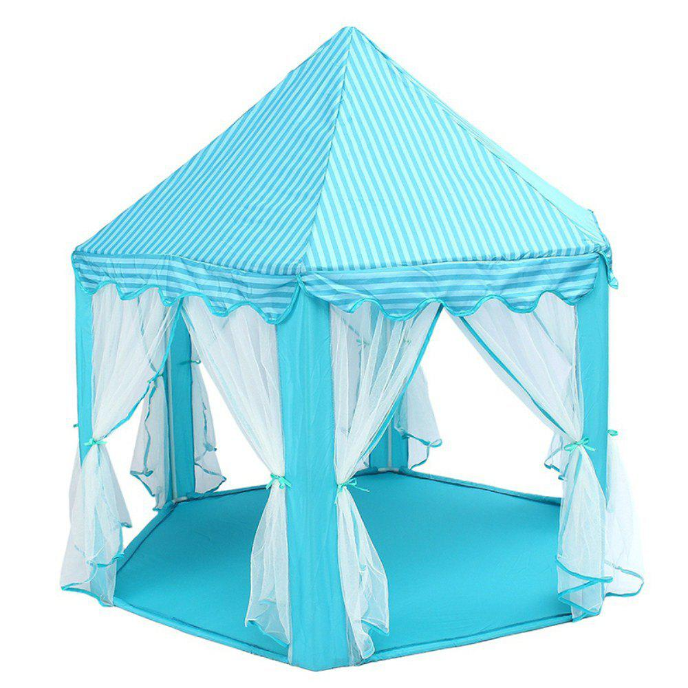 140x135cm Large Princess Castle Tulle Children House Game Selling Play Tent Yurt Creative - BLUE